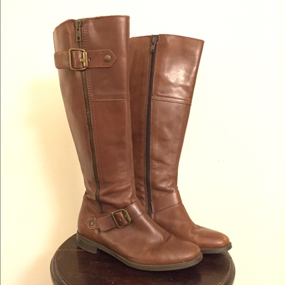 81% off ALDO Shoes - Aldo Cognac Brown Riding Boots from ...