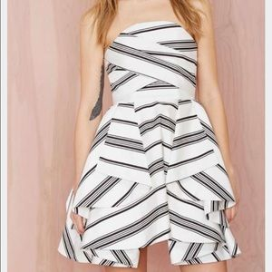 e6086b556fc45 Cameo Dresses | Flash Sale White Striped Strapless Dress | Poshmark
