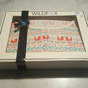 Wildfox ski bunny set fox print