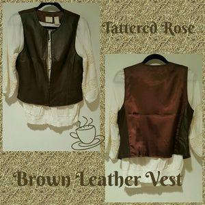 Emma James Jackets & Blazers - Emma James Brown Leather Vest💋30%Off Bundles💋
