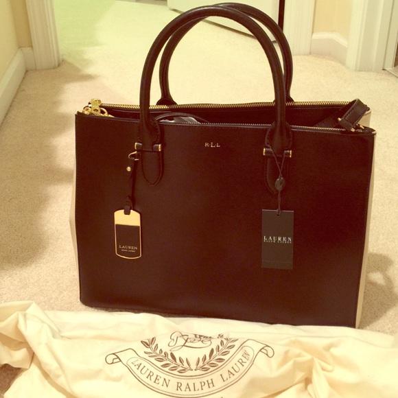 8dd0ae81fa5 Ralph Lauren Bags   Sale Newbury Db Zip Satchel Blkivory   Poshmark