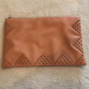 New Pink Studded Clutch Bag