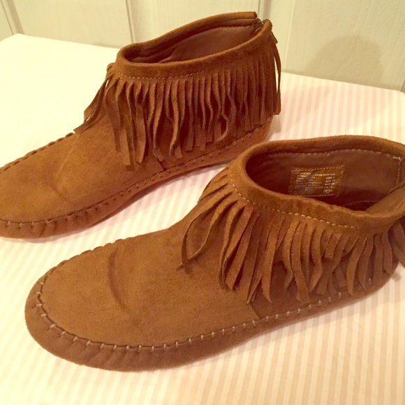 Brash Shoes Womens Native American Fringed Ankle Booties Poshmark