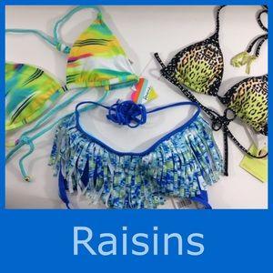 Raisins Other - NEW 3 RAISINS fringe triangle halter bra tops M
