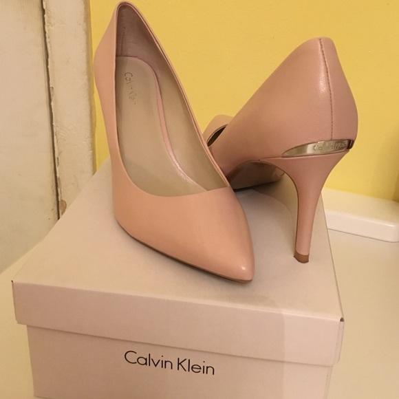 calvin klein pink heels