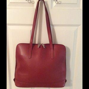 Jack Georges Handbags - 🛍 Jack Georges Red Large Leather Tote Bag