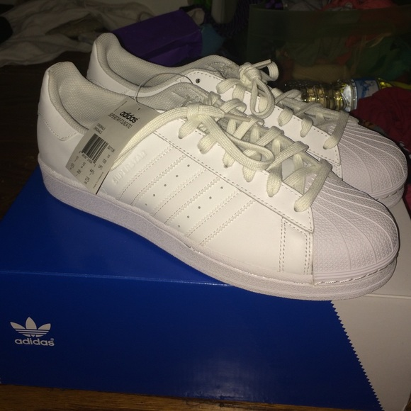 newest f8f9d d0d1f BRAND NEW Adidas Superstar Foundation Shoes -White NWT