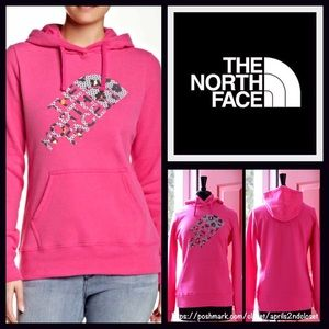 North Face Tops - North Face Hoodie Sweatshirt V Neck Graphic Logo