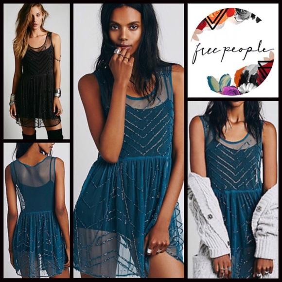 Free People Dresses & Skirts - ⭐️⭐️FREE PEOPLE DRESS Embellished Mini