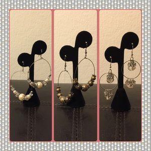 Jewelry - 🎄Bundle of 3 Beautiful Dangling Earrings 💐