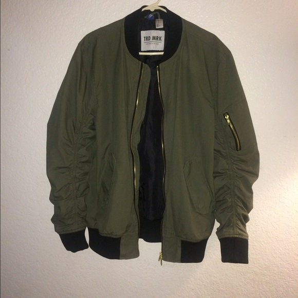 17 Off H Amp M Jackets Amp Blazers Olive Green H Amp M Bomber
