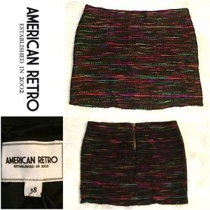 American Retro Dresses & Skirts - NWT American Retro Tweed Multi Yoanna Skirt SZ.6