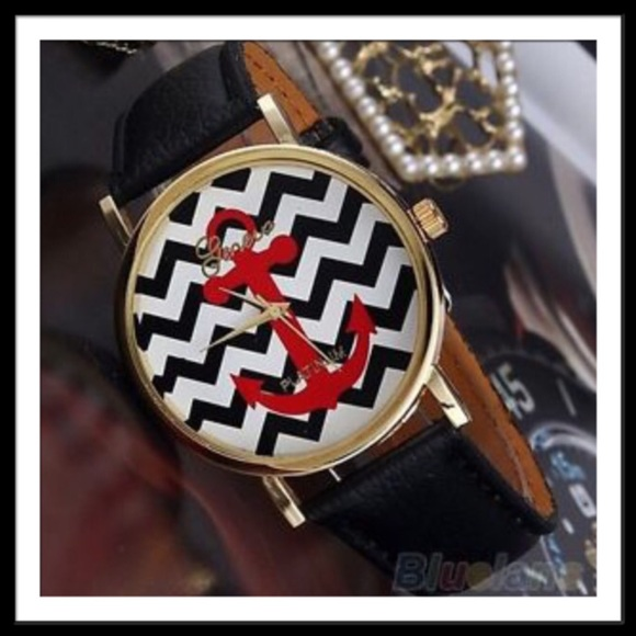 Geneva Accessories Chevron Anchor Watch Poshmark