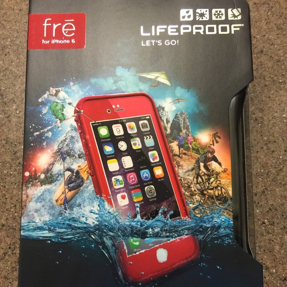 cheap for discount 16dca 2c1a1 NEW red lifeproof Fre iPhone 6 case Boutique