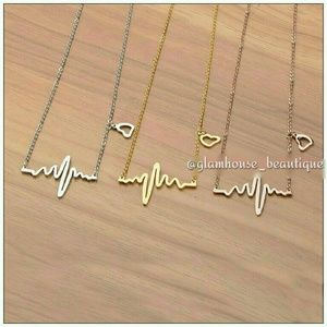 Stainless heart beat necklaces