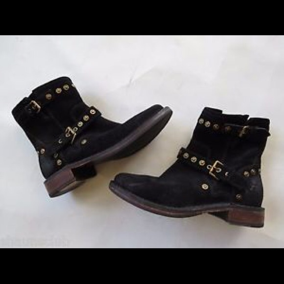 Black Ugg Studded Buckle Booties