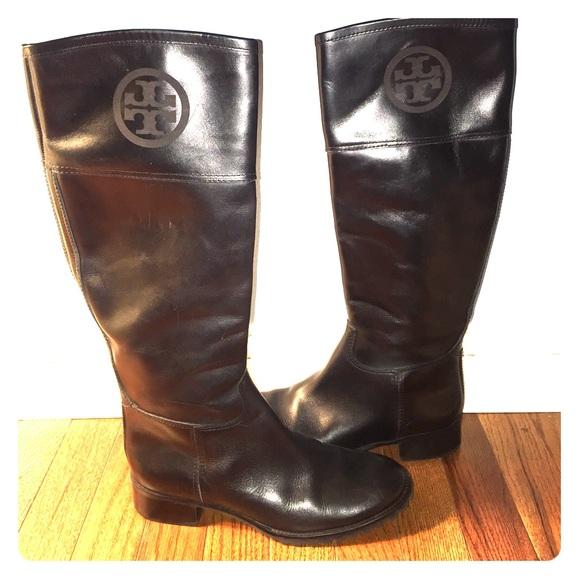 1184ffc8d ... get tory burch jackson black leather riding boots 7.5 ebb92 23499