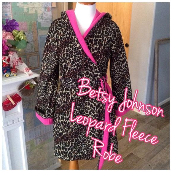 e38edf80c2 Betsey Johnson Other - Beth s Johnson fleece leopard hoodie robe.