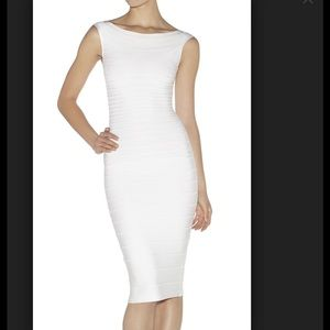 "Herve Leger ""Ardell"" dress-  white xs"