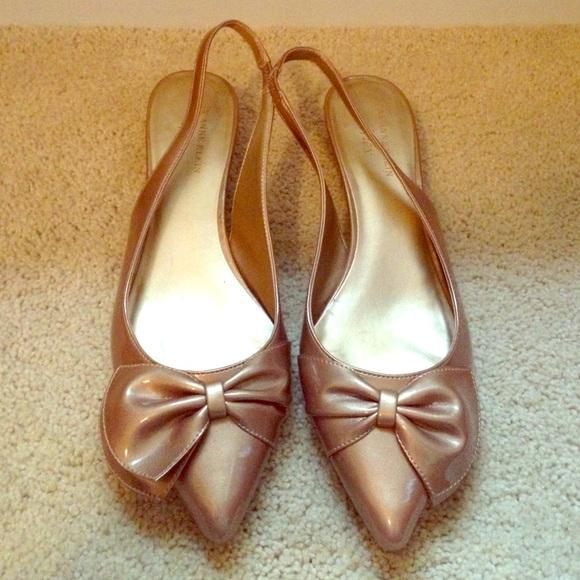 85a54e59c24 Anne Klein Shoes - Anne Klein slingback point toe kitten heels