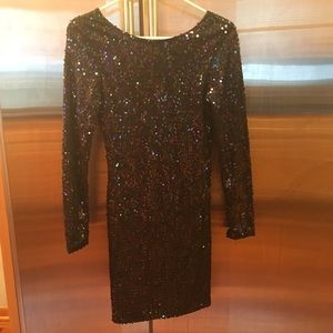 Sequins black bodycon dress - perfect for NYE
