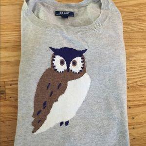 Old Navy Owl Intarsia Sweater M