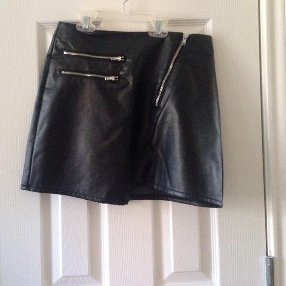 h m faux leather skirt from faith s closet on poshmark