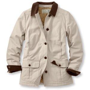 L l bean khaki barn jacket coat adirondack for Llbean 2 a day markdown