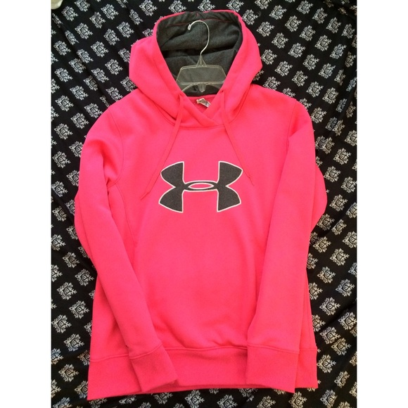 e0c190f86 Under Armour Tops | Hot Pink Under Armor Hoodie | Poshmark