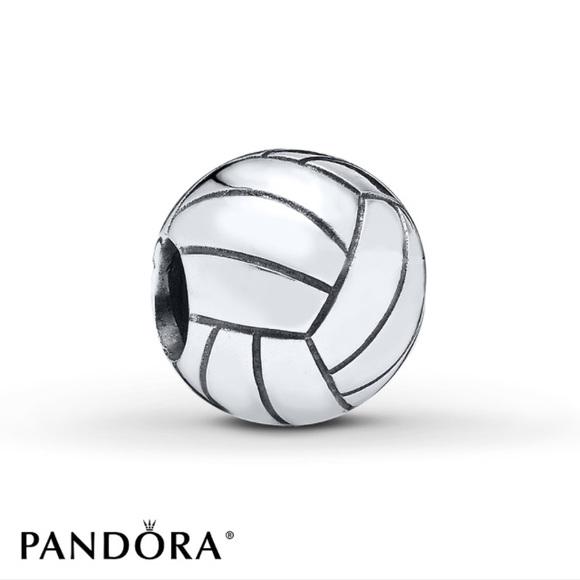 pandora charm volleyball