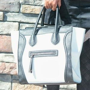 just fab  Handbags - Black & white bag from just fab.