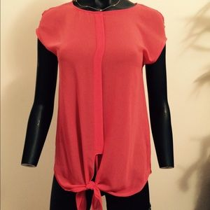 Zara hot pink sleeveless blouse
