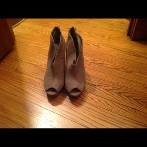 Peep toe shoe boots
