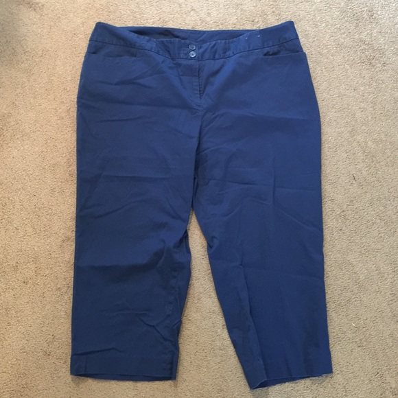 75% off Lane Bryant Pants - Royal blue capris from Melissa's ...