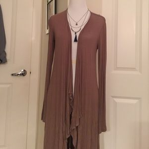 high low cardigan