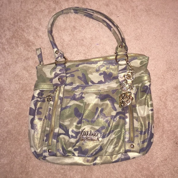 Kathy Van Zeeland Handbags - Kathy Van Zeeland camo gold shimmer large purse  💚 296295e7a97bd