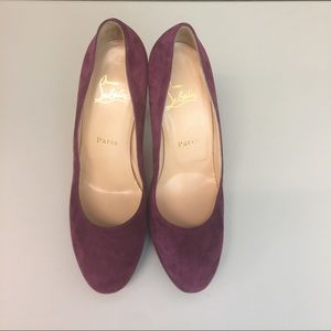 Christian Louboutin Shoes - AUTHENTIC Christian Louboutin purple suede heels