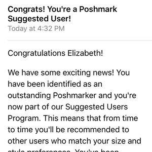 Other - I'm a suggested user! (12/3/15) Posh Ambassador!