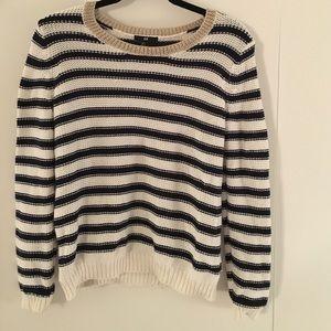 H&M Striped blue/white sweater w/gold trim.