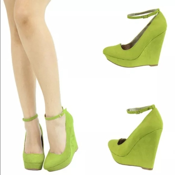 33 qupid shoes nwob quipid lime wedges sz 7 from