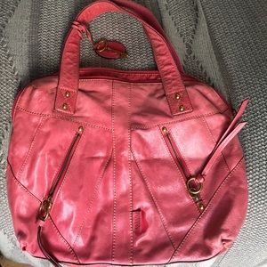 Pink  Fossil leather shoulder bag! 