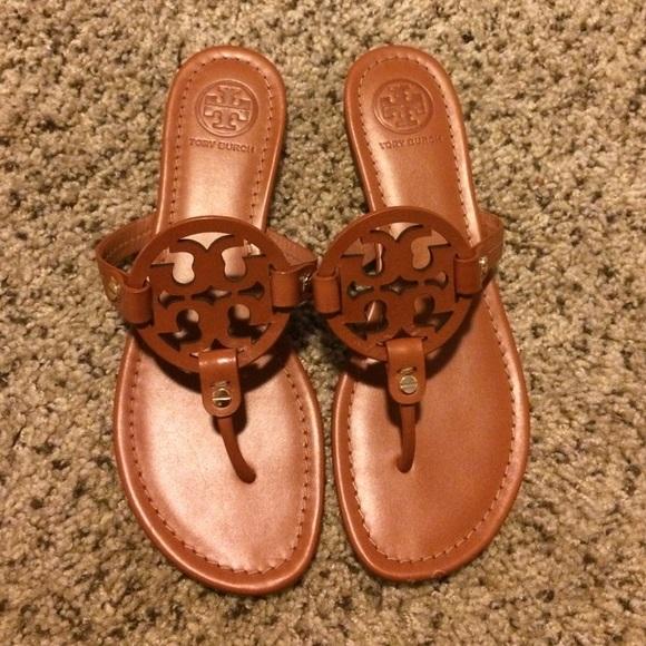 e167650998b9b Tory burch brown Miller sandals Sz 8.5. M 566103d0c284562b5a001972