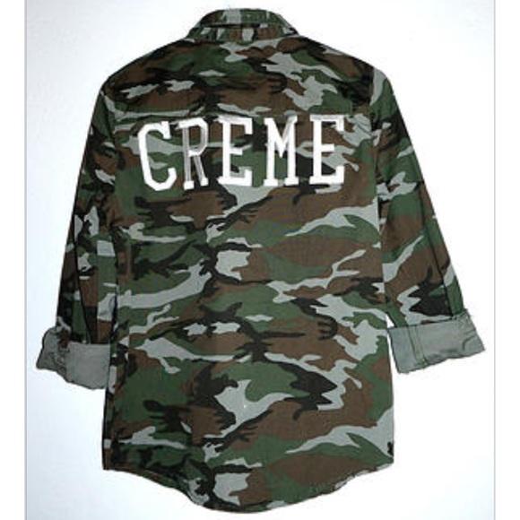 CREME DE LA FAME Jackets & Coats - CDLF CAMO SHIRT JACKET