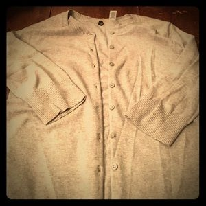 BP grey 3/4 sleeve cardigan