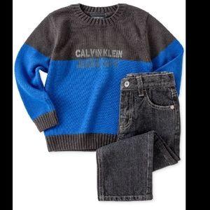 Calvin Klein Other - Calvin Klein Baby Boys 2-piece Sweater & Jeans Set