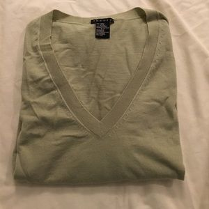 Theory Sweaters - Theory mint green (almost gray-ish)  wool v-neck