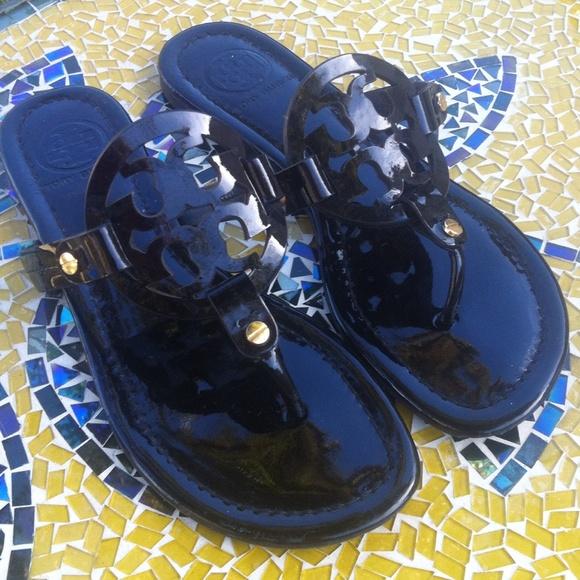 4ee826f16 Tory Burch Miller patent leather sandal. M 5661309b2ba50a7ca7003e46