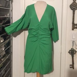NWT Boulee size 6 green deep plunge boutique dress
