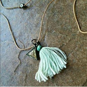 Free people tassel necklace