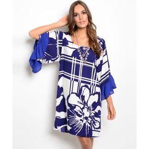Retro Floral Patterned Dress